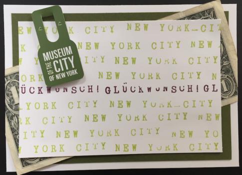 Glückwunschkarte New York